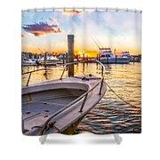 Sunset Harbor Shower Curtain