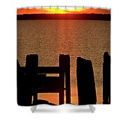 Sunset Hecla Island Manitoba Canada Shower Curtain