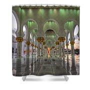 Sunset Hindu Temple Shower Curtain