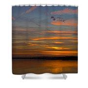 Sunset Hoo England Shower Curtain