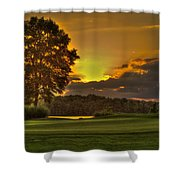 Sunset Hole In One The Landing Shower Curtain