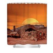 Sunset House Shower Curtain