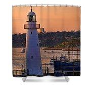 Sunset Hues Cockle Bay Wharf Shower Curtain