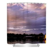 Sunset Hut Shower Curtain
