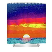 Sunset In Abstract 500 Shower Curtain