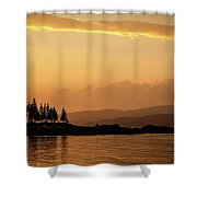 Sunset In Acadia  Shower Curtain