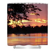 Sunset In Africa Shower Curtain