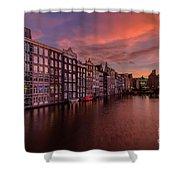 Sunset In Amsterdam Shower Curtain