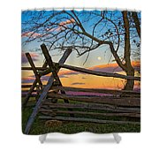 Sunset In Antietam Shower Curtain