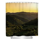 Sunset In Appalachia Shower Curtain