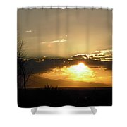 Sunset In Apple Valley, Ca Shower Curtain
