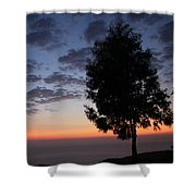 Sunset In Avgonyma Shower Curtain