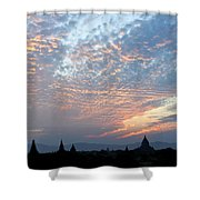 Sunset In Bagan Shower Curtain