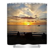 Sunset In Barbados Shower Curtain