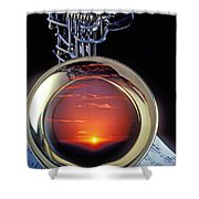 Sunset In Bell Of Sax Shower Curtain