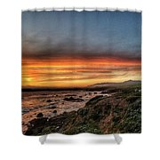 Sunset In Cambria Shower Curtain