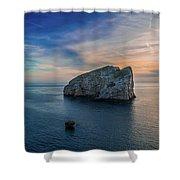 Sunset In Capo Caccia Shower Curtain