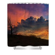 Sunset In Central Oregon Shower Curtain