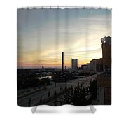 Sunset In Cleveland Shower Curtain