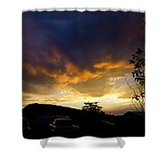 sunset in Cody wy Shower Curtain