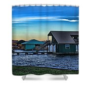 Sunset In Coffee Shower Curtain