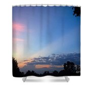 Sunset In Early Evening Shower Curtain