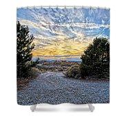 Sunset In El Prado Shower Curtain
