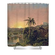 Sunset In Equador Shower Curtain