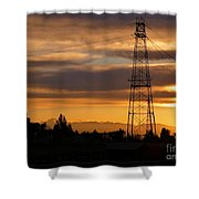Sunset In Fremont Shower Curtain