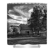 Sunset In Grafton Ghost Town Shower Curtain