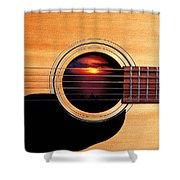 Sunset In Guitar Shower Curtain