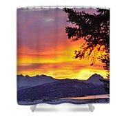 Sunset In Homer Alaska Shower Curtain