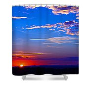 Sunset In Hudson Nh Shower Curtain