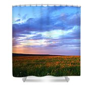 Sunset In Ithaca South Hill Shower Curtain
