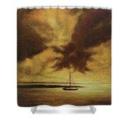 Sunset In Jamaica Shower Curtain