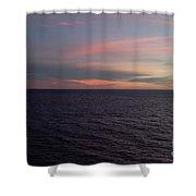 Sunset In Long Beach California  Shower Curtain