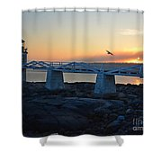 Sunset In Maine Shower Curtain