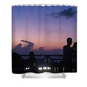 Sunset In Maldives Shower Curtain