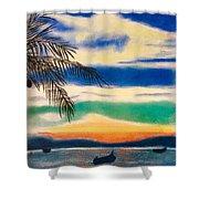 Sunset In Manuel Antonio  Shower Curtain