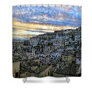 Sunset In Matera.italy Shower Curtain