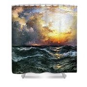 Sunset In Mid-ocean Shower Curtain