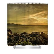 Sunset In Montego Bay Shower Curtain