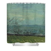 Sunset In Montmartre Shower Curtain