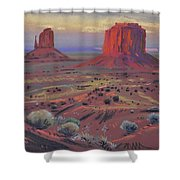 Sunset In Monument Valley Shower Curtain