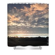 Sunset In November  Shower Curtain