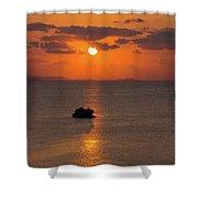 Sunset In Okinawa Shower Curtain