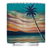 Sunset In Paradise  Shower Curtain
