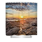 Sunset In Prospect, Nova Scotia Shower Curtain
