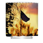 Sunset In San Diego Shower Curtain