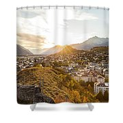 Sunset In Sion Shower Curtain